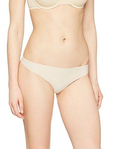 Iris & Lilly Perizoma Senza Cuciture Seamless Donna, Pacco da 5 Beige (Pale Nude)