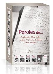Paroles de... : Les plus belles lettres écrites pendant les Première et Seconde guerres mondiales, 6 volumes