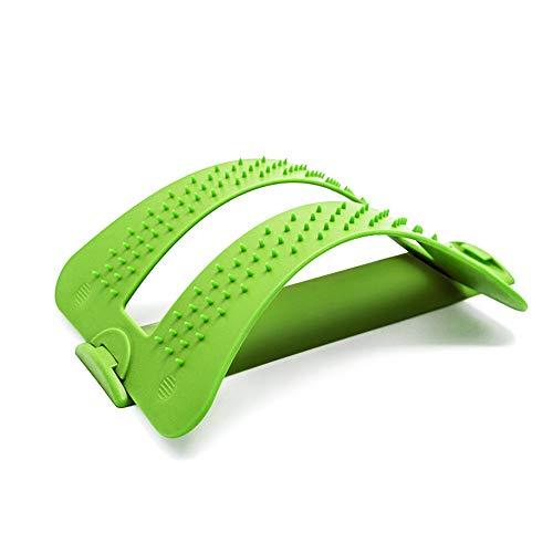 ZJDU Mehrstufiges Rückenspanngerät -Sofortige Linderung Bei Rückenschmerzen, Bandscheibenvorfall, Ischias, Skoliose,Unterstützung Der Unteren Und Oberen Rückenbahre Und Schmerzlinderung,Green