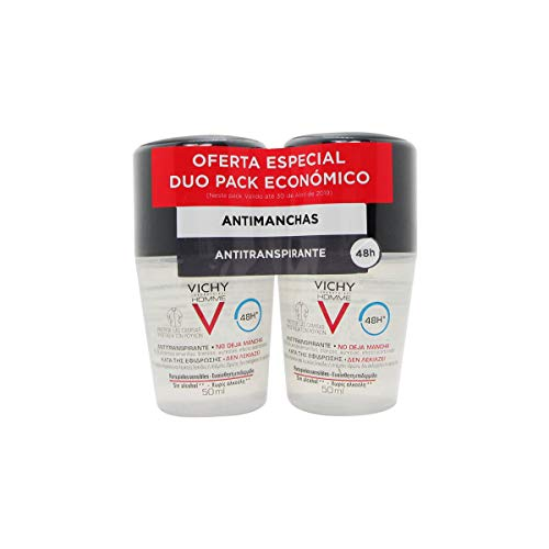 Vichy Homme Deodorante Antitraspirante Antimacchia 48h 2x50ml