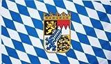 Bayern Fahne Wappen auf Rauten Grösse 1,50x0,90m - FRIP –Versand®