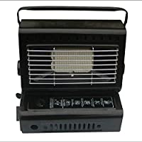 KNOSSOS Portable Heater Burner Dual-Purpose Stove Heater Iron Camping Hiking Equipment - Black