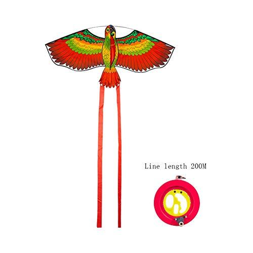 TYD.L Drachen J-119 Brise Leicht Zu Fliegen Langlebig Kind Erwachsener Anfänger Papagei Drachen Verwendet Für Im Freien Park Strand Geschenk 112 * 55CM Schwanz 146 (Farbe : Blau)