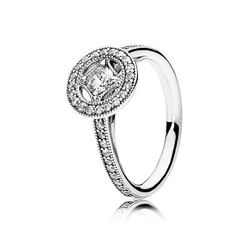 Pandora Damen Ring Vintage Zauber in silber mit Zirkonia Steinchen besetzt - 11 Damen-verlobungsringe, Größe