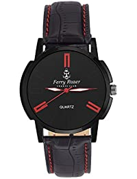 Ferry Rozer Black Dial Analog Watch For Men & Boy's - FR1089