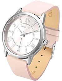 Dictac Legierung Armbanduhr mit Swarovski Kristall echtem Leder Armband japanischen Bewegung ROHS Zertifizierung 30 Meter wasserdichte elegante Uhr für Mädchen Damen bestes Geschenk