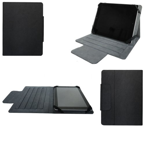 Universal tablet PC tasche 7 zoll Ultra Slim Leder Xeptio mit Ständer - Tasche Hülle Schutzhülle Case Cover Tablet 7 zoll für Asus Google Nexus 7 - Apple iPad mini - Samsung Galaxy Tab 2 Wifi und 3G P3100 P3110 P6200 P1000 P1010 - Ainol Novo 7 Fire / Crystal - Coby Kyros MID7022 - Tablet Android 4.0/4.1/4.2 - 3G 7 zoll) Lenovo IdeaTab A2107A - Acer Iconia B1 / Iconia A101 - HTC Flyer - TrekStor SurfTab Breeze 7.0 - Huawei Media Pad Tablet - Intenso Tab 714 - Fineslate T01E - Asus ME172V - Odys Next / Pedi / Motion / Space / Select / Neo S7 -Nextwolf 7 - Dell Streak 7 - Polaroid Tablet 7 - BlackBerry Playbook - Touchlet 7 - Easypix SmartPad EP750 - Creative Ziio - A-rival Bioniq Pro - Archos Arnova 7H G3 - Prestigio MultiPad 7.0 ... (Zubehör PU Leder, Schwarz)