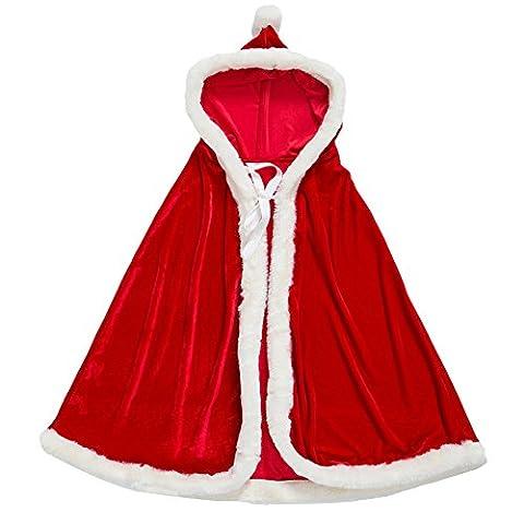 Huqiqun Manteau de Noël pour Enfant Manteau de Cosplay gift