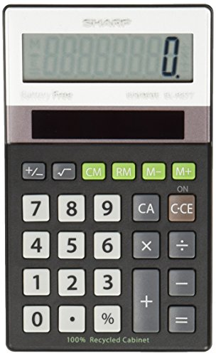 EL-R277BBK Recycled Series Handheld Calculator, 8-Digit LCD, Sold as 1 Each (Basic Calculator)