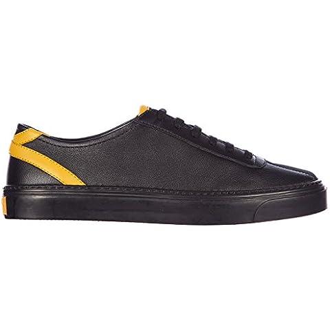 Gucci scarpe sneakers uomo in pelle nuove eugene bicolor
