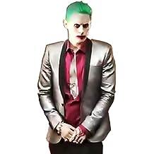 """Inception Pro Infinite"""", (Tamaño M) Traje completo Joker Chaqueta Camisa Pant Tie peluca de Carnaval Halloween Cosplay Batman Suicide Squad Jared Film Idea Regalo para hombre Niño Adultos,"""