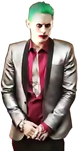 ( Größe XXL ) Komplettes Kostüm - Joker - Jacke - Hemd - Hose - Krawatte - Karnevals Perücke - Halloween - Cosplay - Batman - Suicide squad - Jared - Film - Geschenkidee - Mann - Junge - Erwachsene