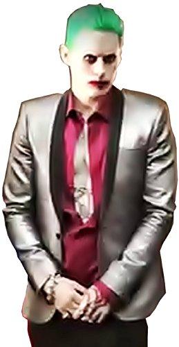 Kostüm Joker Männer - ( Größe XXL ) Komplettes Kostüm - Joker - Jacke - Hemd - Hose - Krawatte - Karnevals Perücke - Halloween - Cosplay - Batman - Suicide squad - Jared - Film - Geschenkidee - Mann - Junge - Erwachsene