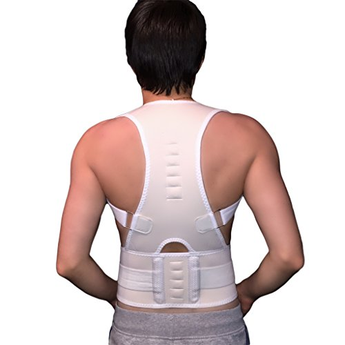 Rückenbandage Rückenhalter Haltungskorrektur Geradehalter Rücken Stabilisator (Weiß)