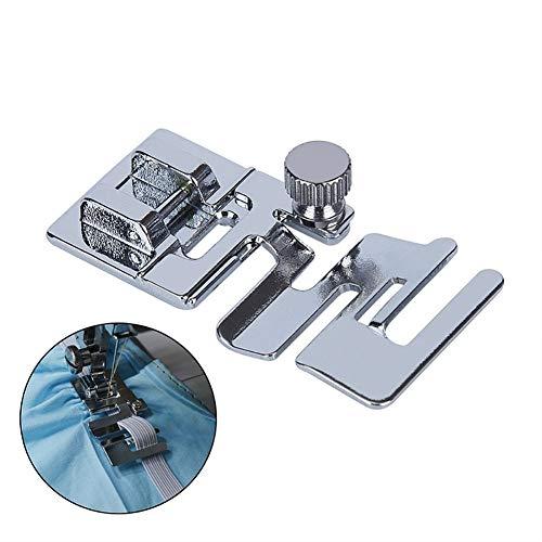 YUnnuopromi Elastische Schnur Band Stoff Stretch Nähmaschine Fuß Presser Snap auf DIY-Tool Silber Stoff-snap