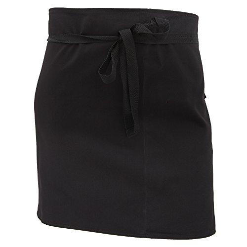 dennys-damen-frauen-kurze-bistroschurze-ohne-taschen-kuchen-arbeitskleidung-einheitsgrosse-schwarz