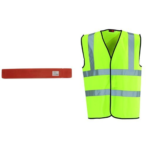 Price comparison product image Maypole Mp1205 Warning Triangle & Blackrock Men's High Visibility Waistcoat - Yellow, Medium