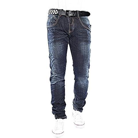 Jeansnet JN6609 de diseño para hombres destruido flacos rectos pantalones vaqueros de la pierna de los tejanos de los hombres de Clubwear de la estrella del estilo W29-W38 / L32-L34