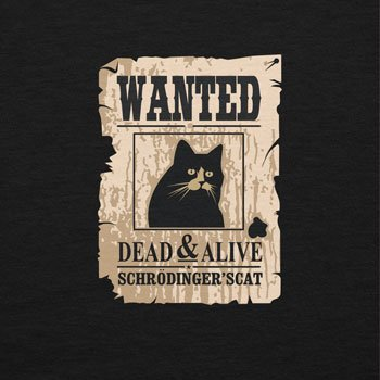 NERDO - Wanted Cat - Damen T-Shirt Schwarz