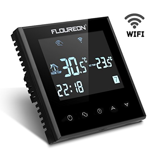 FLOUREON Termostato di riscaldamento elettrico con Wi-Fi...