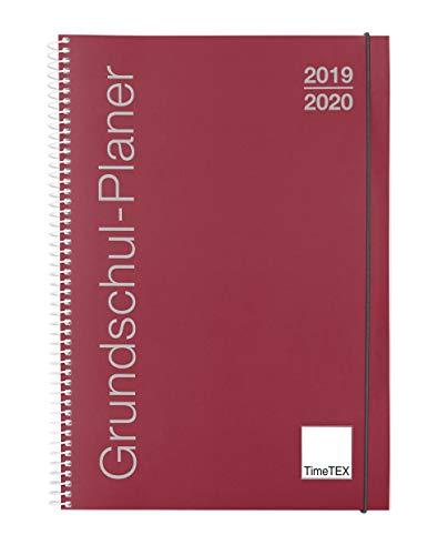 TimeTEX Grundschul-Planer mit Ringbindung - A4-Plus bordeaux - Schuljahr 2019-2020 - Terminplaner für die Grundschule - Lehrerkalender - Schulplaner - 10416
