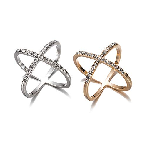 2 PCS Elegant Scarf Buckle Ring Clip Holder Silk Scarves Brooch Women Jewelry Gifts (Gold + Silver)