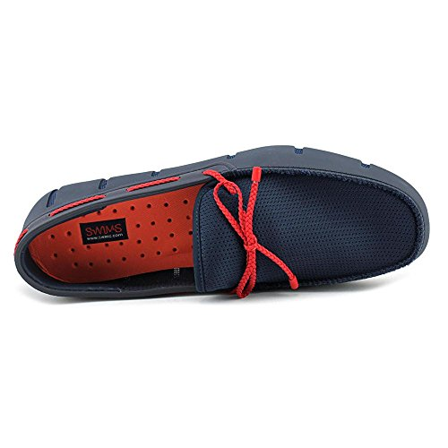 Swims Braided Lace Loafer, Mocassins Homme Blue (Navy/Red)