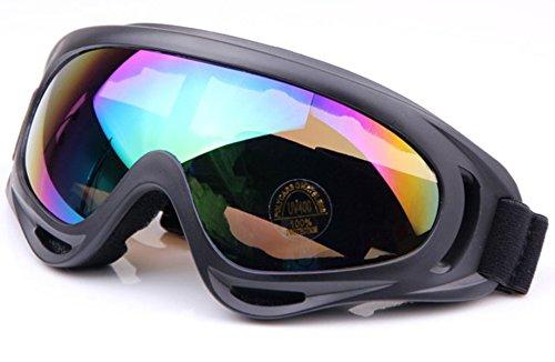 WorldShopping4U Tactical UV400 Wind Staub Kite Surfing Jet Ski Augenschutz Goggle Brille Airsoft Paintball Jagd (Colorful)