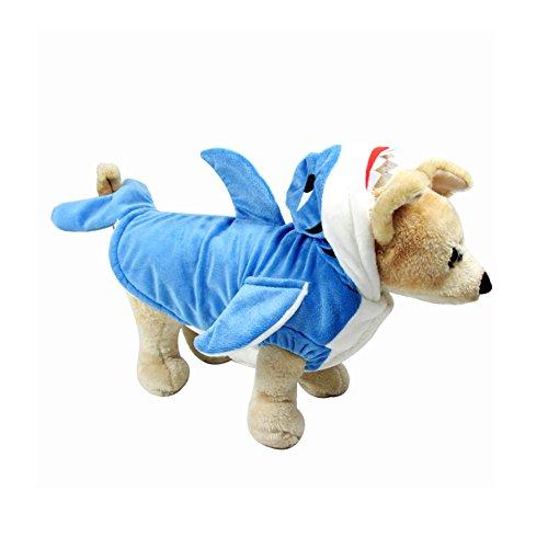 Zerlar Baumwolle Shark Puppy Dogs Kostüm Jacke Hoodie Mantel Fancy Kleid Schlafanzüge