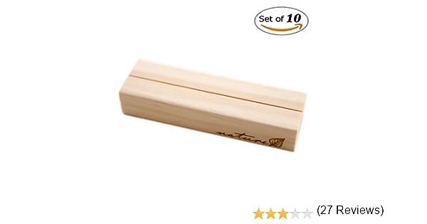 Bois dense Taille L 3/tailles disponibles cartes blanc pour num/éros de table 10 supports d/'images SFGHouse en bois noms photos m/émos