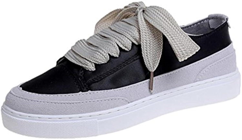 GAOLIXIA Damen Damen Seidenturnschuhe flache Schuhe schnüren sich Freizeitschuhe im Freien bequeme Sportschuheö