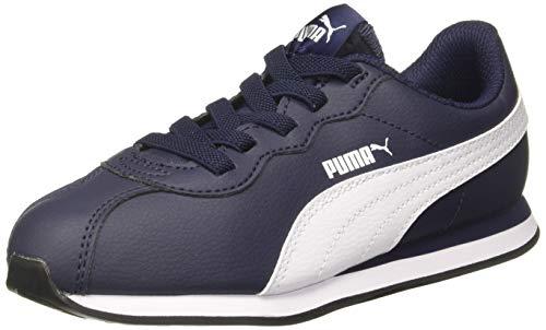 Puma Turin II AC PS', Scarpe da Ginnastica Basse Unisex - Bambini, Blu (Peacoat White), 28...