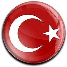 """Muy fuerte imán para frigorífico en la forma rendonda """"Bandera la Turquía"""""""