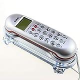 ZfgG Startseite Hotel Wand-Telefon Festnetz-Maschine Creative Cute Anrufer ID Hotel Kleine Erweiterung Persönlichkeit Wired Telefon Festnetznummer (Farbe : Silber)