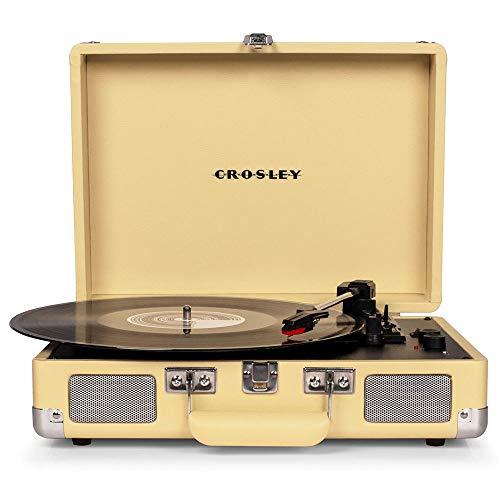 Crosley Cruiser Deluxe Tragbarer Bluetooth Plattenspieler im Retro Design, Fawn