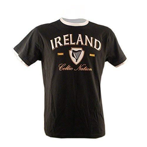Irland Flasche/Weiß/Gold T-Shirt (S-XXL) - Grün, L