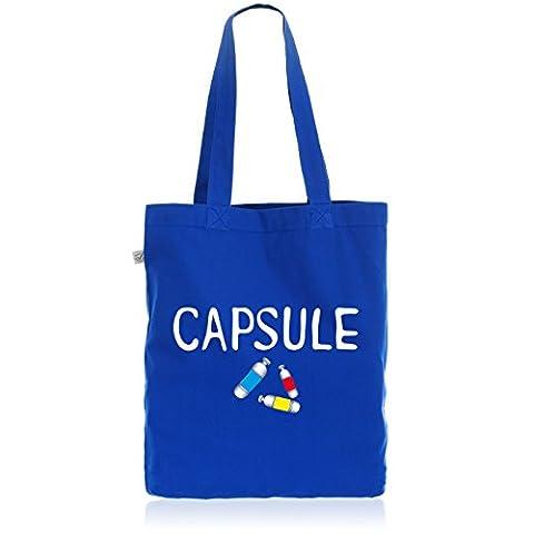 style3 Capsule Corp Biobaumwolle Beutel Jutebeutel Tasche Tote Bag, Farbe:Blau