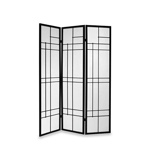 Paravents by Cilios Paravent Trend Style 3 Black, traditionelle Stellwand im modernen Design