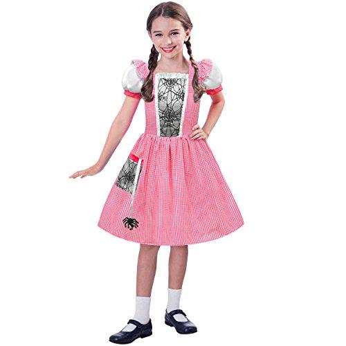 Kind Miss Kostüm Muffet - Fräulein Muffet-Miss Spider Web-Kinderkostüm 9-10 Jahre /128-134