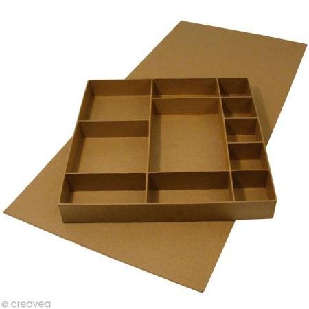 rayher-7136500-papel-mache-tapa-box-con-11-compartimento-32-x-315-x-45-cm-interior-sin