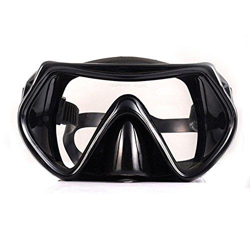 Nanle Ausgezeichnete Taucherbrille Dive Under 3 Jahren Garantie - gehärtetes Glas mit Antibeschlagschutz für Kinder ab 10 Jahren und Erwachsene (Farbe : Schwarz)