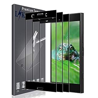 K&L LK Panzerglas für Sony Xperia XZ1 Compact,[3 Pack] Full Cover Gehärtetem Glas Panzerglas Hartglas Displayschutzfolie mit Lebenslange Ersatzgarantie (Schwarz)