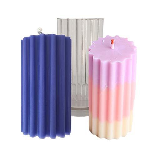 flower205 Kerzen Form, Rund Coarse Tooth Streifen Handgemachte Aroma Kunststoff Kerze Form DIY Kerze Form PC Kerze Form Für Kerzen Machen
