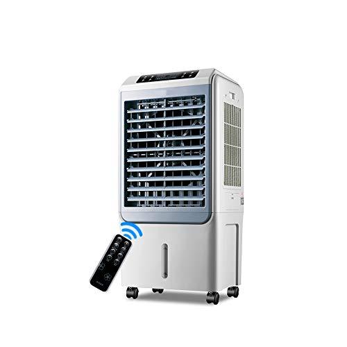 LRHYG Luftkühler Aircooler Mobile Klimaanlage Klima Ventilator Refroidisseur Climatiseur Portable Luftbefeuchter Luftreiniger Remote-Timing 40L Großer Wassertank Dreiseitiger Eisvorhang