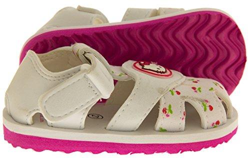 Hello Kitty Sangatta Sangle Velcro Orteil Fermé Sandales Filles Sandales Blancs