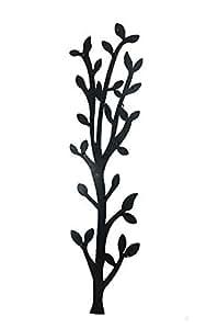 wandgarderobe flurgarderobe metall garderobenleiste wanddeko baum schwarz k che. Black Bedroom Furniture Sets. Home Design Ideas