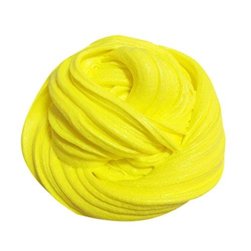 Juguete Anti-estrés, Ouneed ® Fluffy Floam Baba aroma alivio de la tensión sin bórax niños/adulto lodos juguetes (Amarillo)