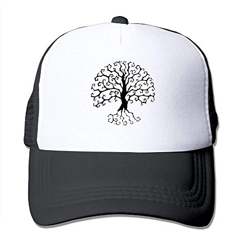 deyhfef Yggdrasil Tree Life Adjustable Sports Mesh Baseball Kappen Trucker Cap Sun Hüte Multicolor60 Maroon-mesh-hut