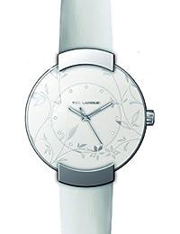 Ted Lapidus - A0500RAPF - Montre Femme - Quartz Analogique - Cadran Blanc - Bracelet Cuir Blanc