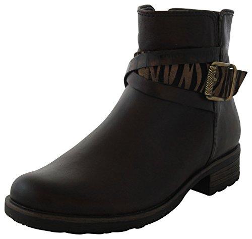Gabor Comfort 32.783.24 Damen Stiefel/Stiefelette (Biker Boots) mit Reißverschluss im Animal Print Leder Braun, EU 40.5 Leder Animal-print